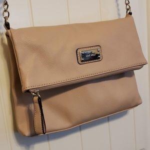 Nine West over the shoulder pink purse
